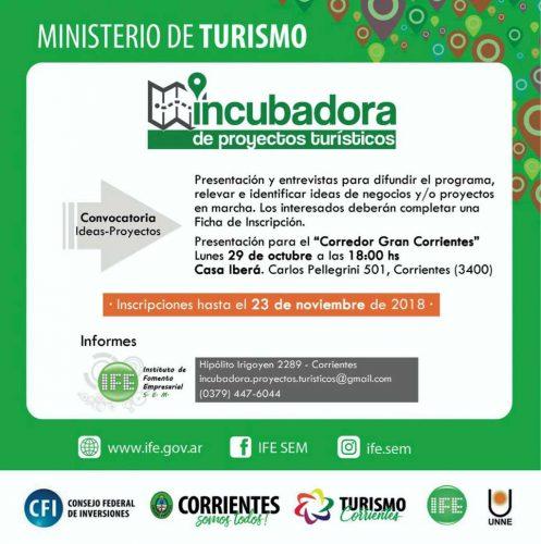 Programa Incubadora de Proyectos Turísticos