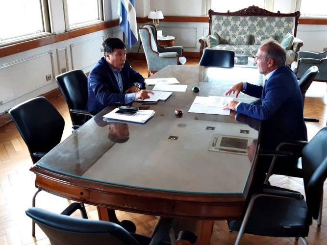 Adán Gaya se reunió con Daniel Arroyo