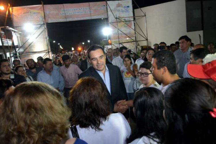 Gobernador Valdés en la 24ª FiestNacional de la Horticultura en Santa Lucía