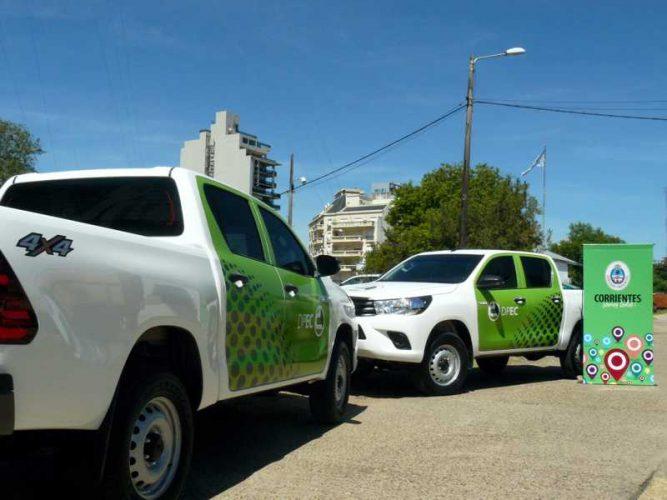 Nuevas camionetas para el área de mantenimiento de la red de Alta Tensión de la DPEC