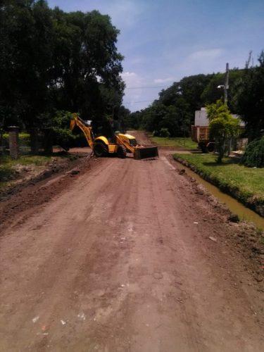 Proyecto de mejoramiento de calles en Paso de la Patria
